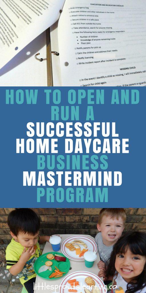 Home daycare mastermind program
