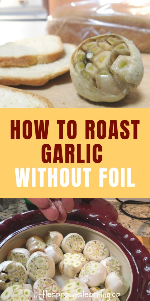 Do you love garlic? When you roast it, it gets milder and sweeter. Roasted garlic is amazing. It makes a wonderful addition to sauces, soups and just about anything.