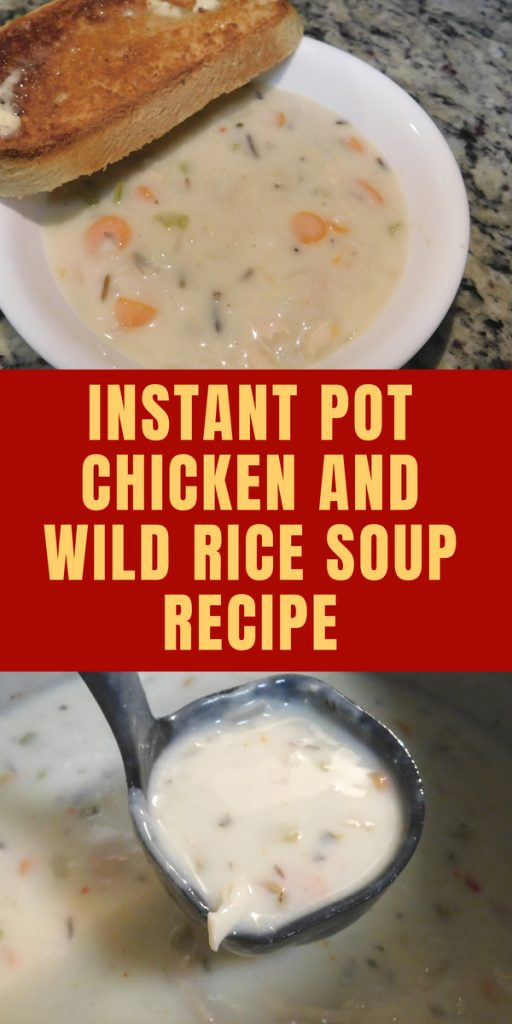 Panera Copycat Instant Pot Chicken and Wild Rice Soup