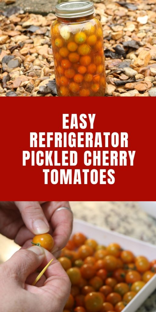Easy Refrigerator Pickled Cherry Tomatoes