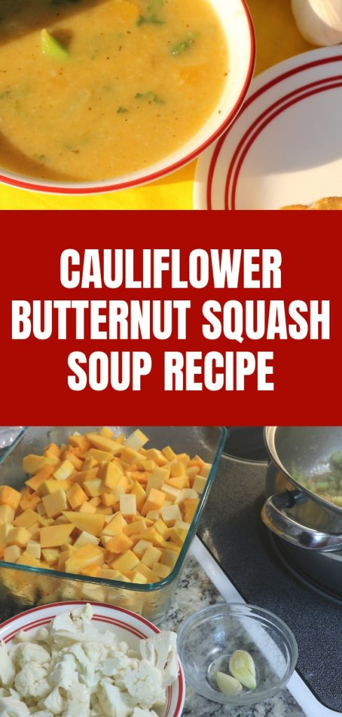 Cauliflower Butternut Squash Soup Recipe