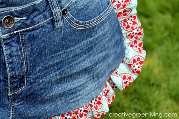 cute gardening apron made from recycled jeans