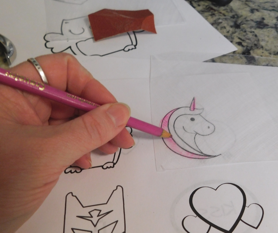 tracing free printable valentine pattern unicorn for diy shrinky dink