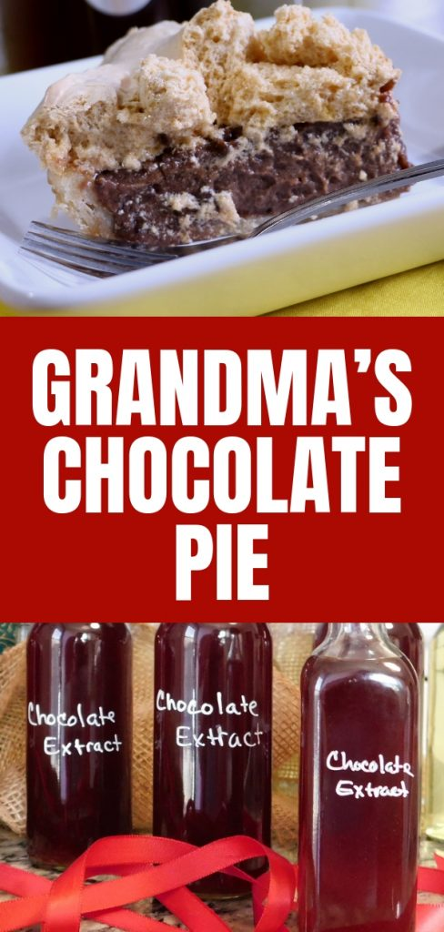 I love me some meringue pie because they remind me of grandma. Chocolate is my favorite, so I'm going to share Grandma's chocolate pie with you. Find out more.