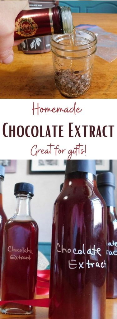 Replacing expensive vanilla with homemade chocolate extract gives an amazing depth of chocolate flavor. Find out more about making your own.