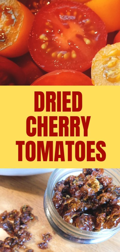 Dried cherry tomatoes are ridiculously delicious and chewy like raisins. Imagine a raisin that was bursting with amazing savory flavor.