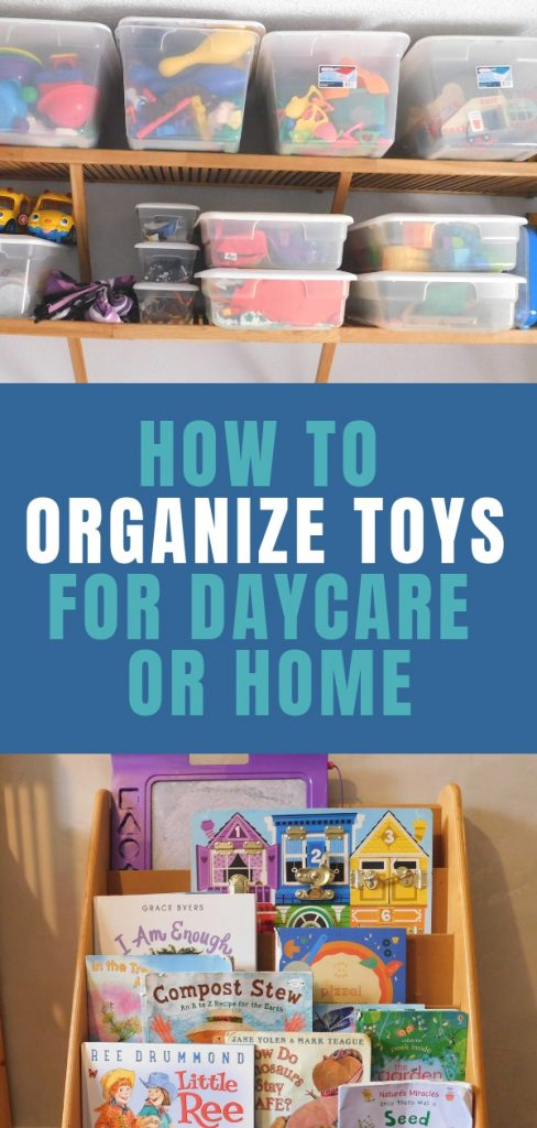 """If you work in daycare, you know it's super tough to manage all the """"stuff"""" we need to do the job. How can we organize toys so the kids don't just dump them everywhere?"""