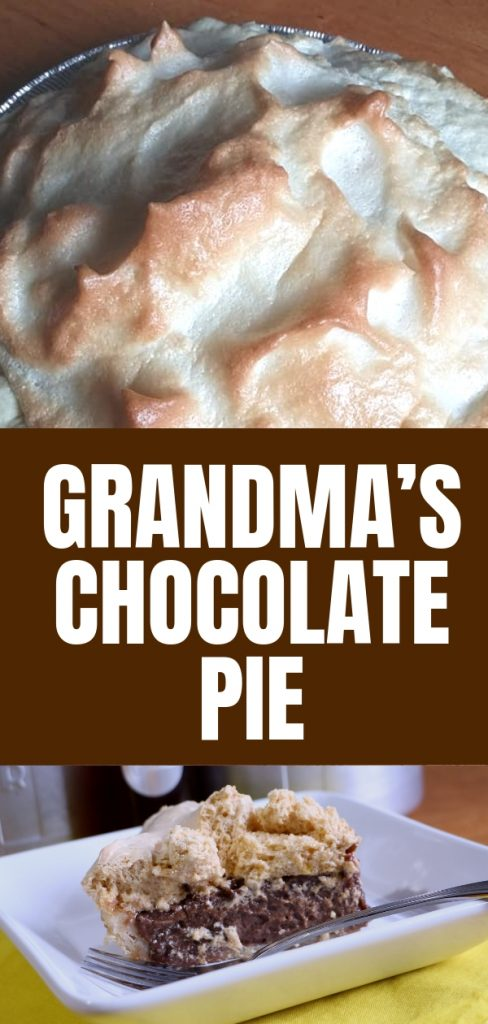 I love meringue pie because they remind me of grandma. Chocolate is my favorite, so I'm going to share Grandma's chocolate pie with you.