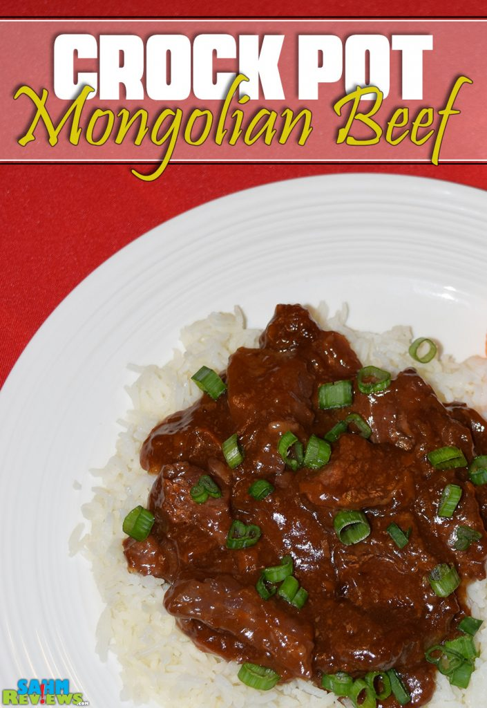 Mongolian beef and rice on a plate