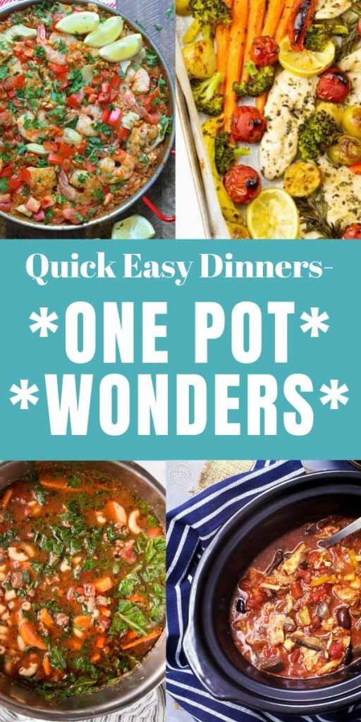 There's nothing better than a full meal you can make in one dish. One pot wonders are perfect after a long day and leave you with only one dish to wash.