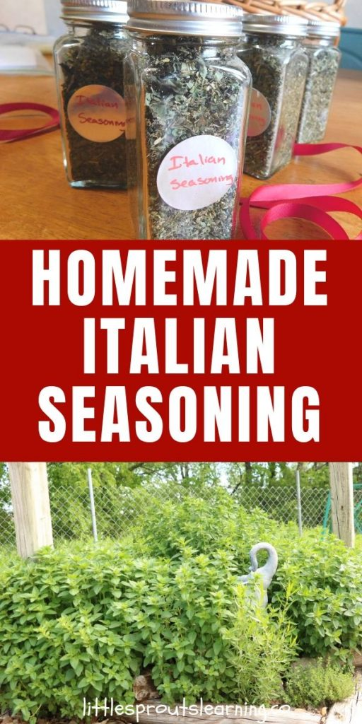 I love to grow herbs and dry them and make Italian seasoning blend to use year-round. It's super easy to dry herbs and it gives you flavor for months.