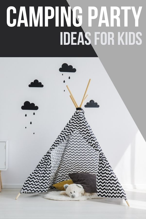 Do you ever need a super inexpensive but fun day for your kids? Is it a rainy day? Check out these camping party ideas for tons of kid activity fun!