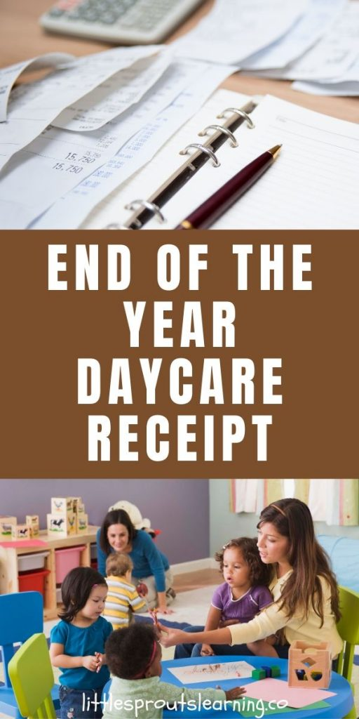 Every year daycare providers parents ask for receipts for what they paid them that year. These end of the year daycare receipts can be simple and quick.