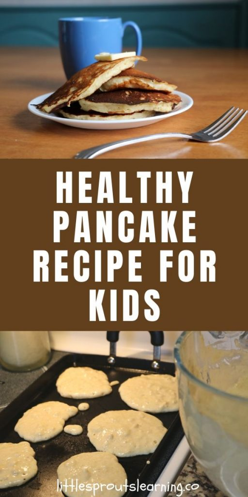 Lots of people ask for my healthy pancake recipe so I'm sharing it now. These pancakes meet the whole grain requirement for the food program too.