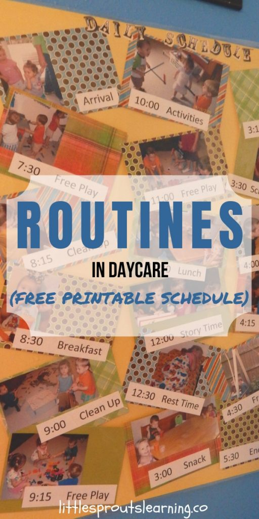 Keeping Routines in Home Daycare can help make your day fun and easier. Use this free printable schedule to plan out your days of fun with kids.
