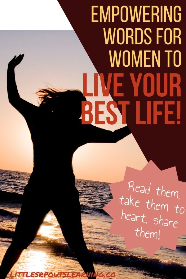 We all get down and overwhelmed. Everyone struggles so I wrote these empowering words for women to help lift you up. Read them and share them.