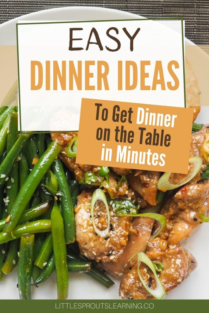 Do you feel like you are running out of ideas for cooking at home these days and don't want to spend a ton of time cooking? These easy dinner ideas will inspire you with new ideas that your family will love.