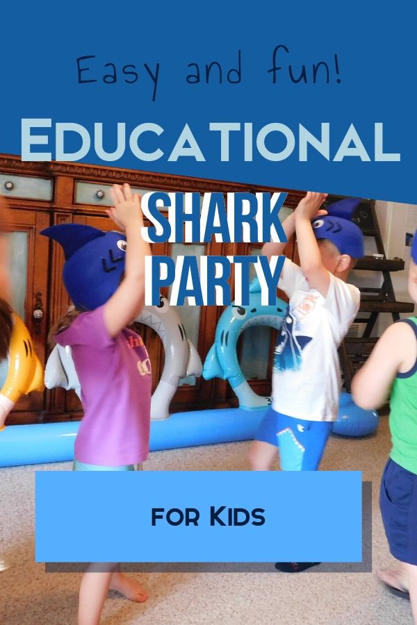 Kids love animals and sharks are no different. We had a ton of fun with an educational shark party for kids and I know you will too. Check out these ideas.