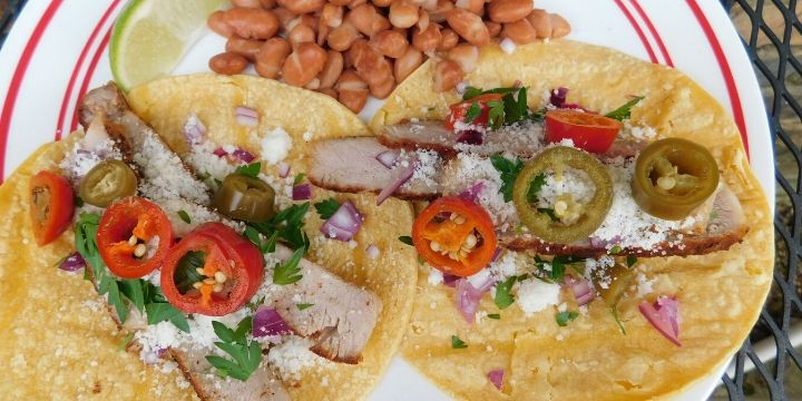 Pork chops are so quick and easy to cook. It's a great idea to cook up a bunch and use them to make different things like these spicy leftover pork chop tacos.