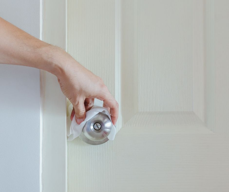 cleaning door knob