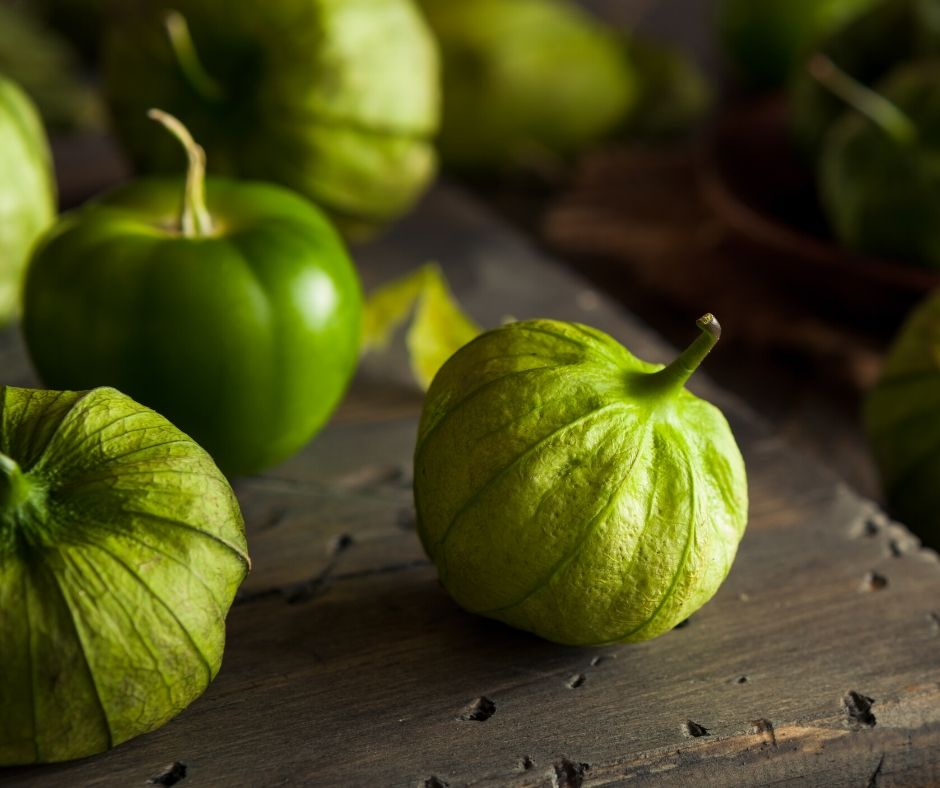 tomatillos with the husks still on