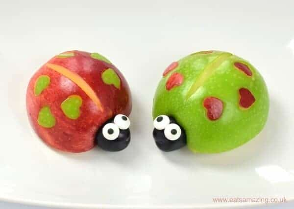 ladybugs made from apples