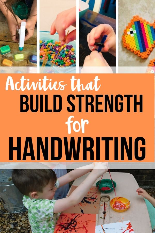 Hand strength is a big deal. Kids need to be able to have enough hand strength for handwriting and many times they go to school lacking in this area.