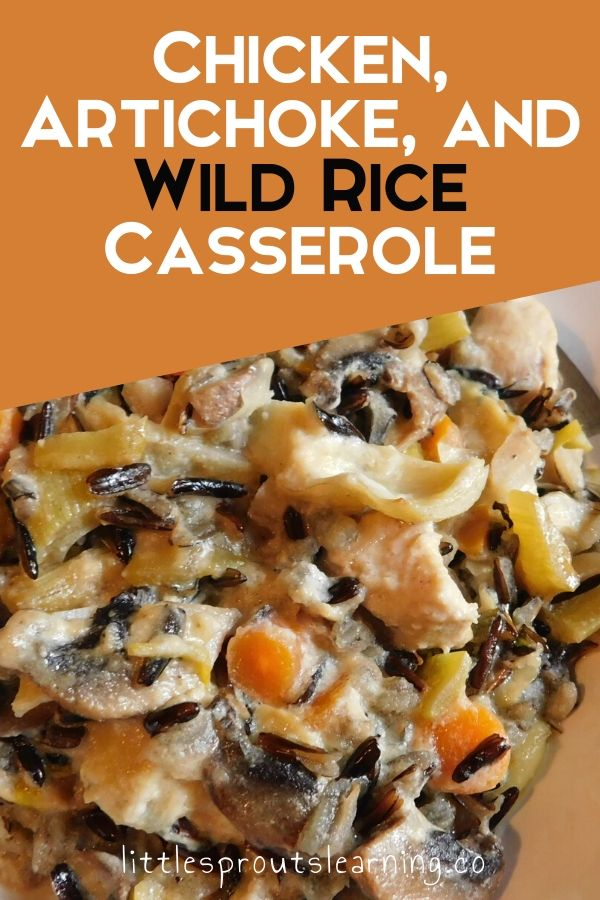Wild rice is so different and interesting. I wanted to create a new kind of meal with it, so I came up with this creamy chicken, artichoke, and wild rice casserole and it was amazing!