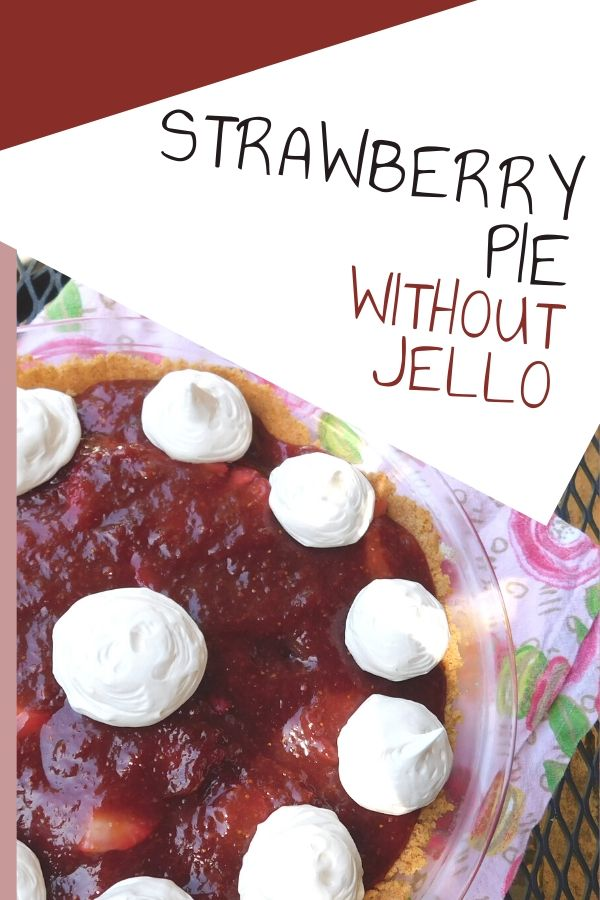 Fresh homemade strawberry pie is so yummy. I am not a fan of jello and I don't like pie crust, so I came up with this strawberry pie without jello in a graham cracker crust.