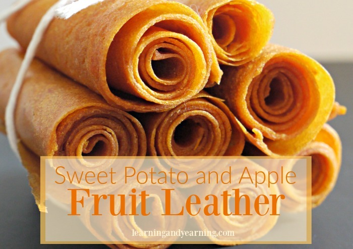 fruit leather rolled up and stacked