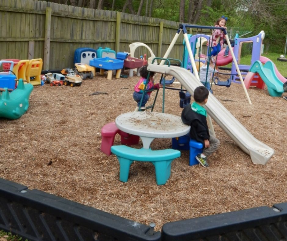 outside play area in small home daycare