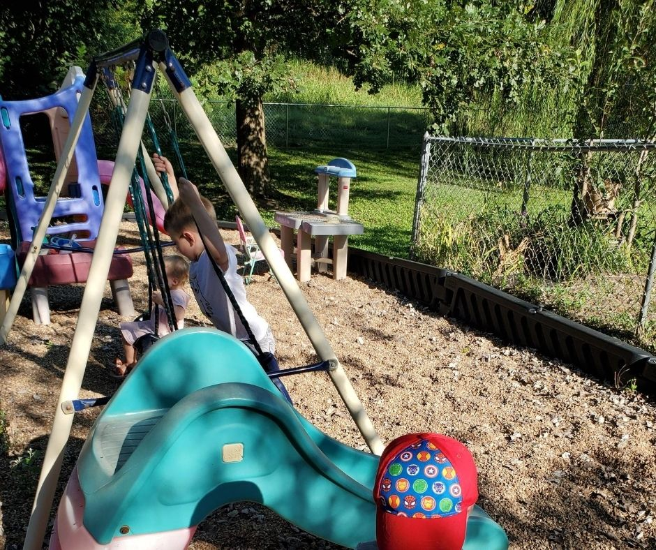 little tykes landscape timbers around home daycare playground