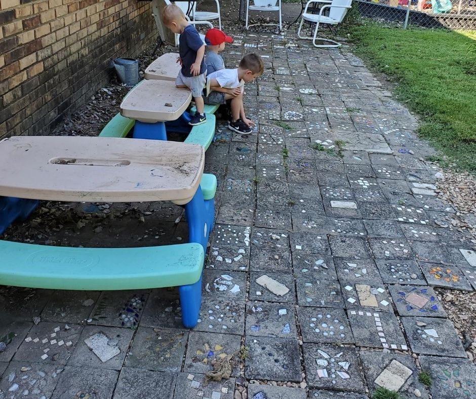 home daycare playground seating area