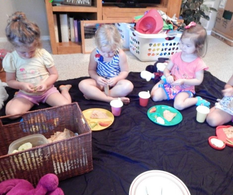 teddy bear picnic celebrating friendship in home daycare