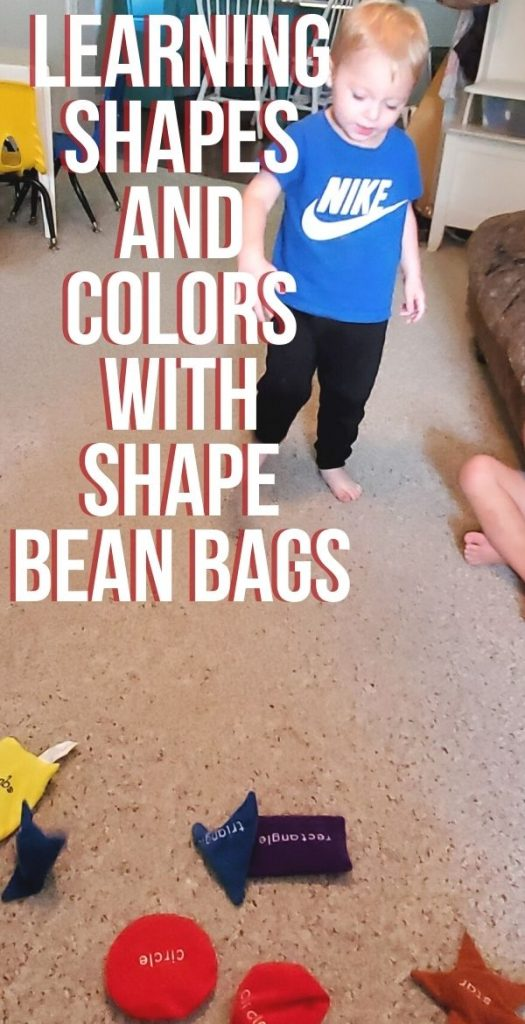 Learning shapes and colors is an important part of school readiness skills. See how easy and fun it can be with shape bean bags.