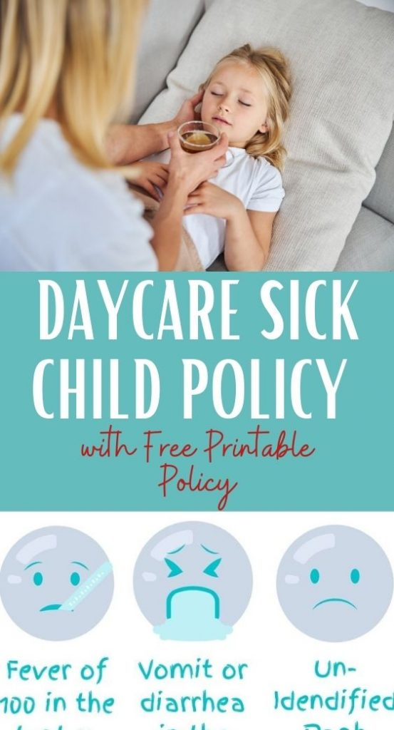 Daycare Sick Child Policy with Free Printable Policy