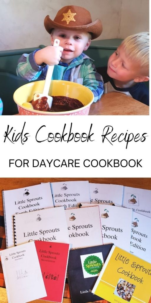 Cooking with kids teaches them many skills including math, taking turns, and fine motor skills. Check out these kids cookbook recipes for daycare cookbook.