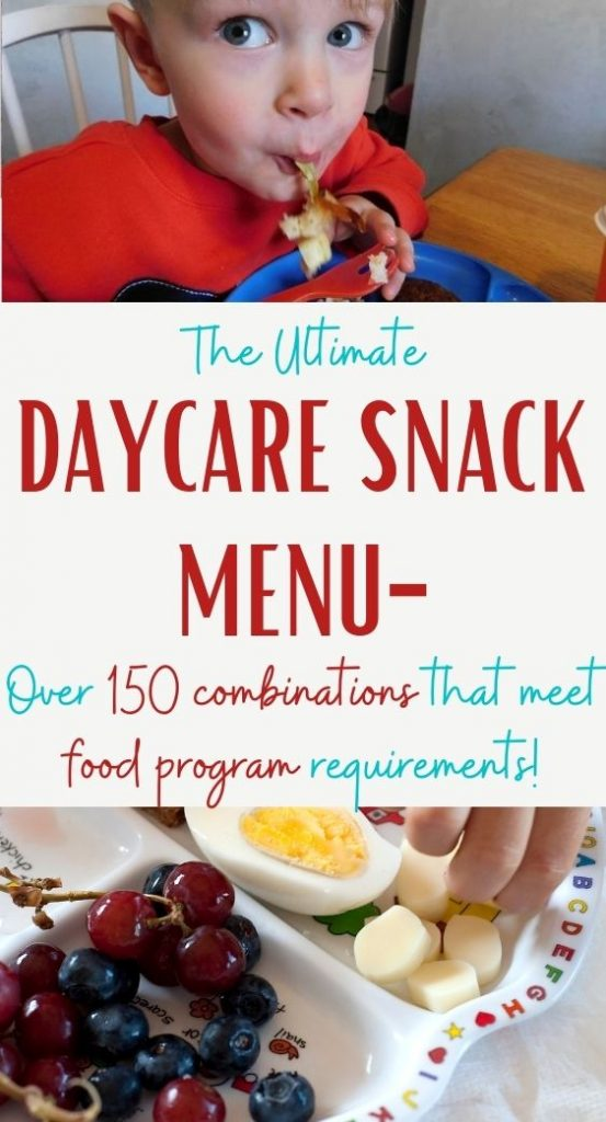 New ideas for the daycare snack menu is the most common question I hear asked about food. Everyone gets bored with their snack ideas.