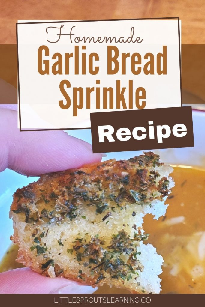 Garlic bread is a wonderful comfort food most of us love, but that flavor of garlic bread sprinkle goes on so many delicious dishes.