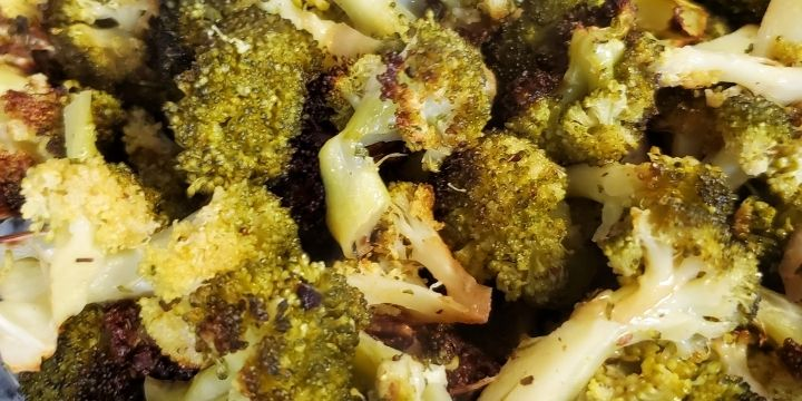 Air Fried Vegetables with Garlic Bread Seasoning