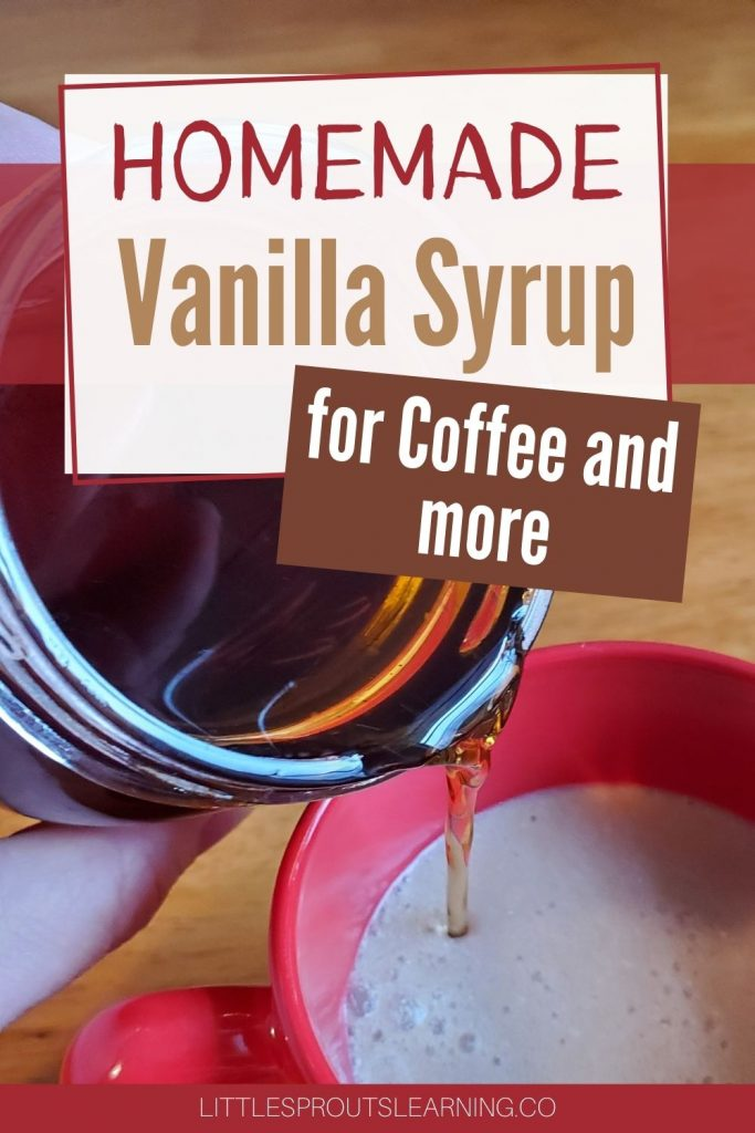 Store bought flavored syrups are full of chemicals and expensive. But you can make homemade vanilla syrup for your coffee drinks and desserts for less.