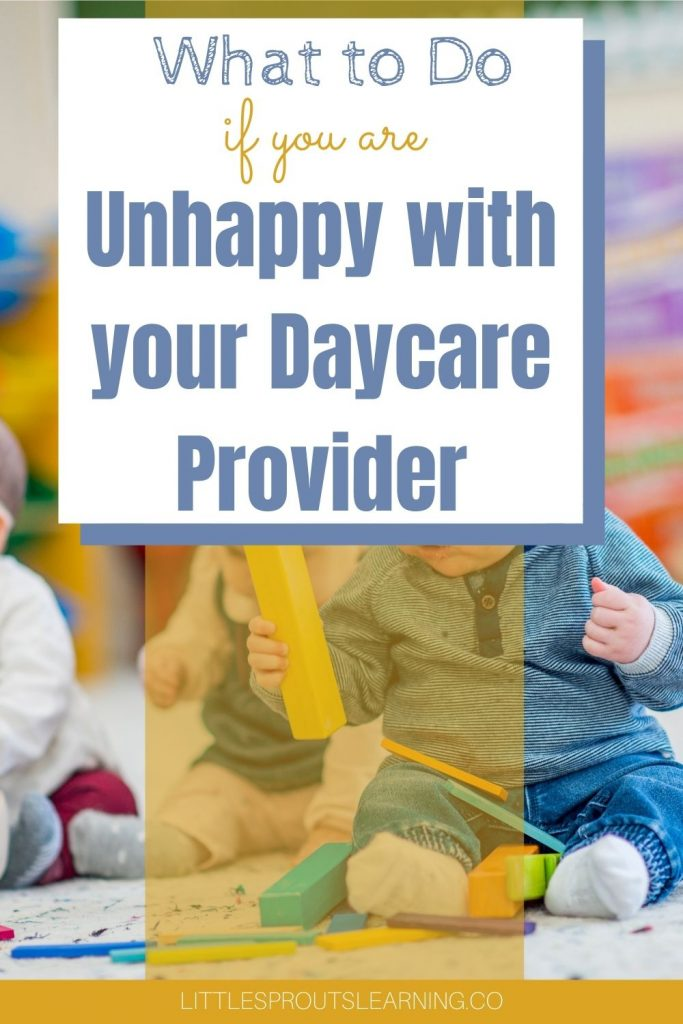 Daycare is important. Your child is everything and if you are unhappy with your daycare provider it can really disrupt your life.