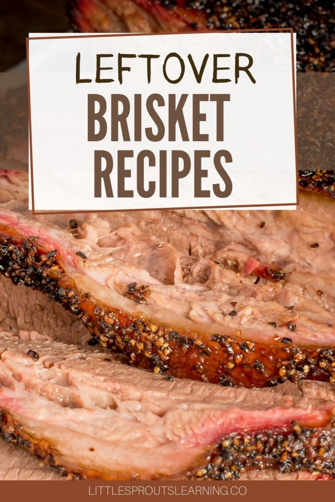 Brisket slices laid on a plate