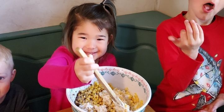 Cooking Elote in a Cup Recipe with Kids
