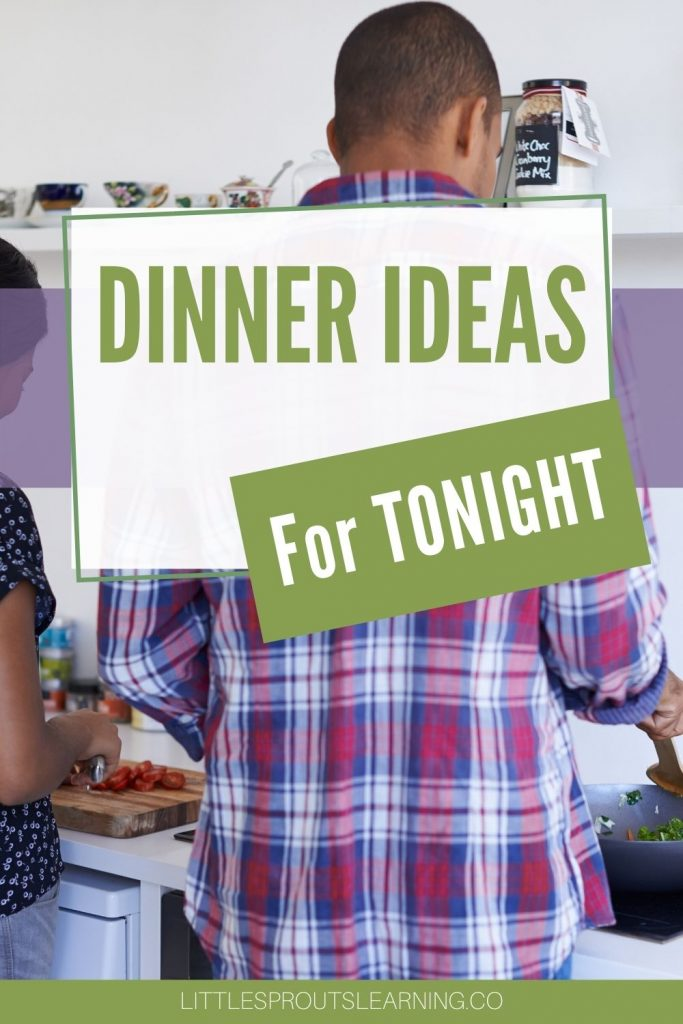 couple preparing tonight's dinner