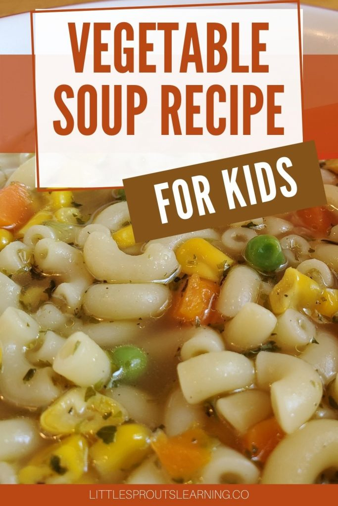 vegetable soup in a bowl with a spoon
